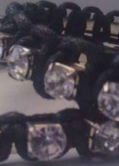 Kup mój przedmiot na #Vinted http://www.vinted.pl/kobiety/bizuteria/9811064-bransoletki-czarne-z-imitacja-diamentow