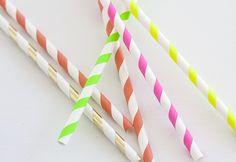 make your own striped paper straws