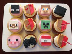 Minecraft, Clash of Clans and PS3 cupcakes.