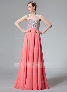 Prom Dresses - $149.99 - A-Line/Princess Sweetheart Floor-Length Chiffon Prom Dress With Beading Sequins (018012850) http://jjshouse.com/A-Line-Princess-Sweetheart-Floor-Length-Chiffon-Prom-Dress-With-Beading-Sequins-018012850-g12850