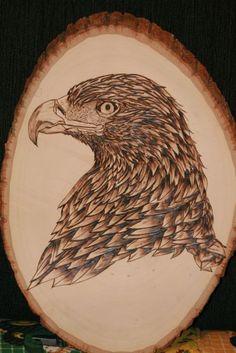 Hawk pyrography