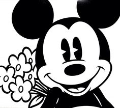 Mickey Mouse sweet romance flowers Disney
