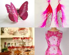 Hot Pink - Happy New Year Party by Rebecca Kane on Etsy--Pinned with TreasuryPin.com