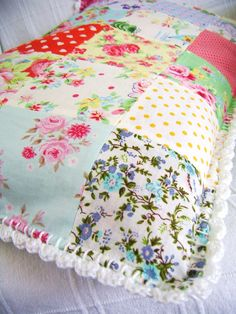 beautiful! Patchworkd and croceht :silly old suitcase