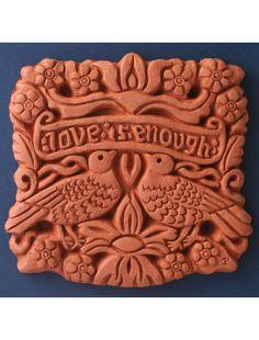 William Morris Love Is Enough Terracotta Decorative Wall Tile