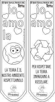segnalibri giornata della terra Green School, Everything And Nothing, Learning Italian, Opening Day, Recycled Art, Earth Day, My Teacher, Pixel Art, Projects To Try