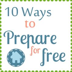Emergency Prep ideas for free  Video inventory, Family evacuation plan, Family emergency plan, Store water in juice bottles, Written list of phone numbers, Written recipes with shelf stable items, Brush up on first aid skills, Other skills, Plan for specific risks in area, Organize first aid supplies