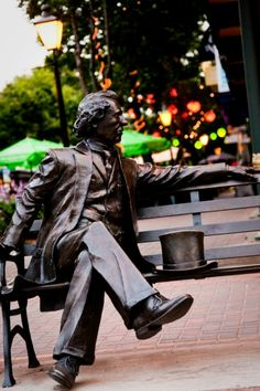 Sir John A Macdonald enjoying his rare moments of solitude. This gentleman was Canada's first Prime Minister. Canadian Confederation, Pei Canada, East Coast Travel, Atlantic Canada, Canadian History, Of Montreal, Roadside Attractions, True North, Prince Edward Island