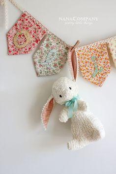 Chenille rabbit by nanaCompany - pattern in 'Storybook Toys' by Jill Hamor - so sweet!