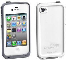 Apple #iPhone 4S Lifeproof #Waterproof Case White / Gray