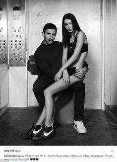 Bella Hadid pantless as she shows off new Nikes  http://ift.tt/2k0FJ01