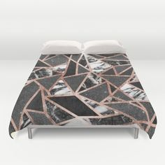 This modern and elegant faux printed rose gold, black glitter, black foil, and black and white marble geometric triangles pattern is perfect for the trendy and stylish woman. Its contemporary and swanky print is great for many gifts and occasions. Enjoy this ritzy and glamorous design for your next purchase!<br/> <br/> modern...