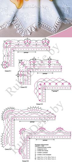 puntillas a crochet-patrones