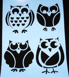 ☀☀ OWL STENCIL OWLS STENCILS BIRD BIRDS TEMPLATE NEW ☀☀