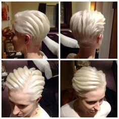 Latin Hairstyles, Dance Competition Hair, Ballroom Dance Hair, Short White Hair, Dance Images, Beautiful Haircuts, Bleached Hair, Burlesque, Short Hair Styles