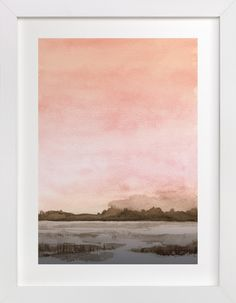 """""""Marshy Cove"""" - Art Print by Field and Sky in beautiful frame options and a variety of sizes."""