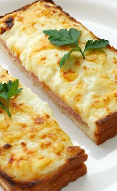 Croque Monsieur Recipe - Baked Ham and Cheese Sandwiches
