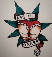 A cute tattoo idea for a weed lover. #tattoo #stoner #marijuana #weed #sketch #art #cannabis #inked #ass