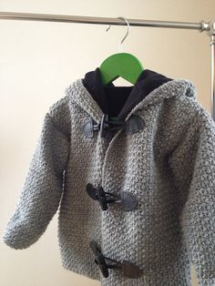 Crochet pattern for a children's duffle coat. Perfect gift for a newborn, baby, toddler or kid. Crochet & sew this unique jacket for your favorite child.DIY