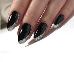 Make an original manicure for Valentine's Day - My Nails Nail Art Designs, Black Nail Designs, Nails Design, French Nails, Nail Manicure, Manicures, Cute Nails, Pretty Nails, Hair And Nails