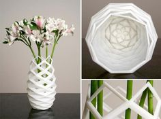 The vase is cool. Maybe I could do something similar in ceramic.     Decor on Demand: 14 3D-Printed Home Accents | WebUrbanist (Page 2)