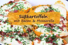 Rezept für Süßkartoffeln mit Bacon und Mozzarella