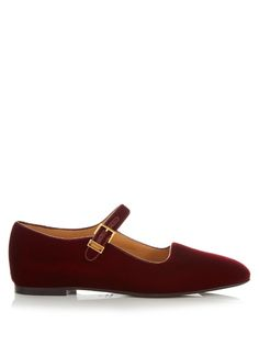 Adding fine footwear to its discerning roster, The Row presents these Bordeaux-red Ava flats this season. The sleek silhouette is crafted in Italy from soft-touch velvet, and elevated by an internal 10mm wedge heel – a luxury detail that proves practical. Watch them elegantly ground tonal roll-neck sweaters, ponchos, and black trousers.