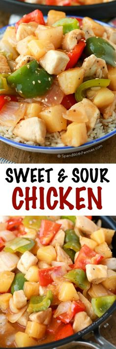 Sweet and Sour Chicken is one of those dishes that once you start eating, you almost can't stop. Instead of dashing out for take out, you can whip it up at home with this recipe. The results are so good that you might never order out again when the craving hits!