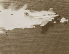 B-17 ditching. Chet's plane ditched in the North Sea in Soar Like Eagles.