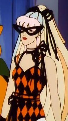 Screenshot of Danse from the popular 80's cartoon Jem & The Holograms in a Halloween Ballerina Costume. Taken from Episode 42 'Trick or Techrat'.