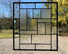 """Vinyl Framed and Tempered Glass Insulated! The """"Palm Springs"""" Stained Glass & Beveled Window Dragonfly Stained Glass, Stained Glass Quilt, Stained Glass Windows, Window Hanging, Window Panels, Glass Panels, Blenko Glass, Square Windows, Vinyl Frames"""