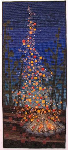 amazing art quilt! Campfire