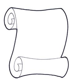 scroll paper template printable