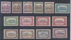 HUNGARY FRENCH OCC ARAD 1919 Sc 1N6 thru 1N17 FOURTEEN STAMPS MINT SCV$320.00