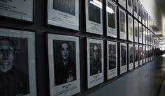 Registration photographs of Auschwitz prisoners.