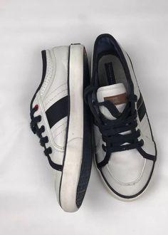 453de2bac1843 tommy hilfiger kids vintage white leather shoes SZ 3