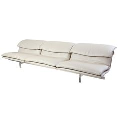 1stdibs - Phenomenal Saporiti Stainless Steel & Mercedes Leather Sofa explore items from 1,700  global dealers at 1stdibs.com