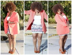 My Style: Simply Be Blazer and Plus Size Mini Skirt