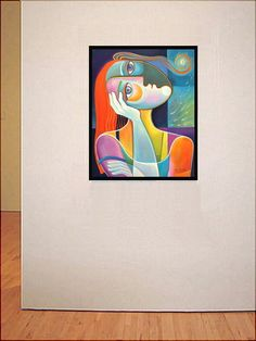 Cubism Modern Art Dreaming High Original Painting by MarlinaVera, $450.00