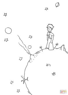 the little prince book coloring - Google Search