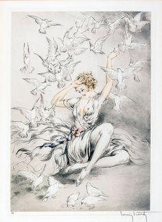 """Louis Icart - """" White Wings"""" by sofi01, via Flickr"""