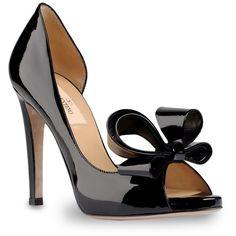 3824ad6d2a5 Valentino Open-toe pump Black High Heel Pumps