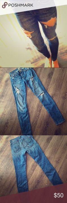 Hudson jeans Skinny destroyed mid rise Hudson jeans Hudson Jeans Jeans Skinny