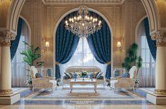 """Luxury Mansion Interior """" Qatar """" on Behance"""