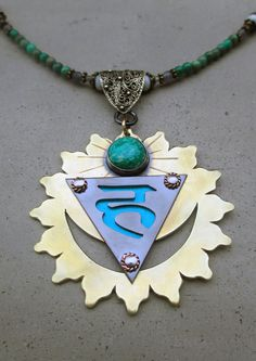 Throat Chakra Necklace with Amazonite by SilviasCreations on Etsy, $280.00