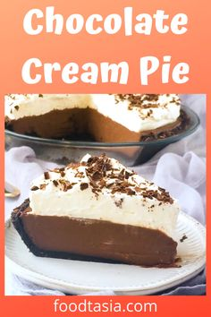 Chocolate Cream Pie is the ultimate creamy, dreamy, decadent dessert. With an Oreo cookie crust, a velvety smooth chocolate custard filling, and billows of whipped cream.
