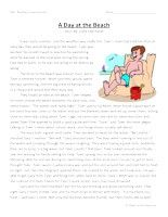 Third Grade Reading Comprehension - A Day At The Beach