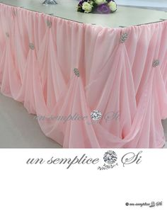 Cinderella Table Skirt Chiffon and Rhinestone by UnSempliceSi