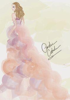 Beautiful women in a gown