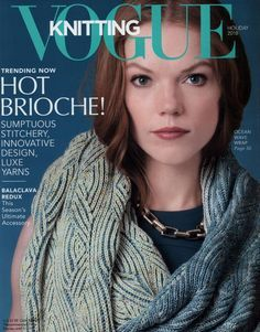 See the beautiful shawl design by Unjung Yun, that is now on the cover of Vogue Knitting Magazine! Vogue Knitting, Knitting Books, Hand Knitting, Knitting Ideas, Knitting Magazine, Crochet Magazine, Crochet Stitches Patterns, Stitch Patterns, Online Diary